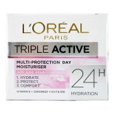 L'Oreal Triple Active Day Moisturizer 50ml Dry & Sensitive Skin