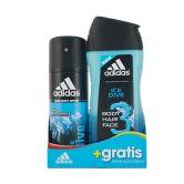 Adidas Ice Dive Shower Gel 3in1 250ml + Deodorant Spray 150ml