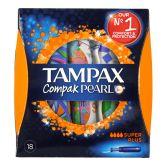 Tampax Compak Pearl Super Plus 18 Tampons
