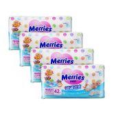 Merries Premium Tape Diapers Newborn 42s (1Carton=4Pack)