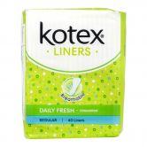Kotex Fresh Liners Regular Unscented 40S