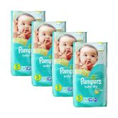 Pampers Baby-Dry Diapers Small 58S x4Packs