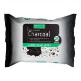 Beauty Formulas Detox Facial Wipes 25s with Activated Charcoal