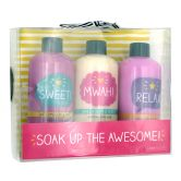 Happy Jackson Bubble Bath Set 3X200ml Soak Up The Awesome !