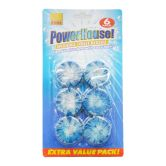 All About Home Powerhouse Hygienic Toilet Blocks 6pcs x 50g Blue