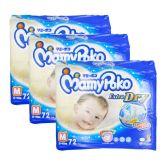 MamyPoko Extra Dry Jumbo Tape Diaper Medium 72S (1Carton=3packs)
