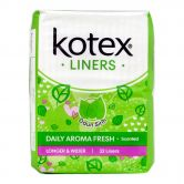 Kotex Fresh Liners Longer and Wider With Green Tea Scent 32S