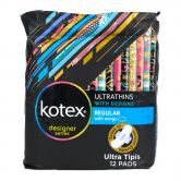 Kotex Ultrathins Regular Wings 12s with Design