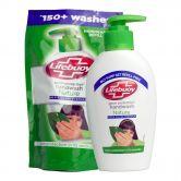 Lifebuoy Handwash Nature 190ml + Refill 185ml Set