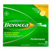 Berocca Performance Effervescent Tablets 60s (Mango & Orange)
