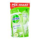 Dettol Profresh Shower Gel Refill 800g Lasting Fresh