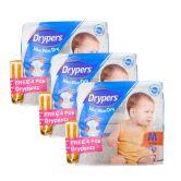 Drypers Wee Wee Dry M74S+4S (1Carton=3pack)