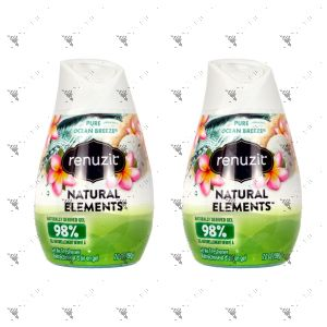 Renuzit Aroma Air Freshener Gel 198g Pure Ocean Breeze (x2)