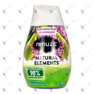 Renuzit Aroma Air Freshener Gel 198g Pure White Pear & Lavender