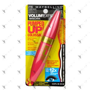 Maybelline Pumped Up Colossal Washable Mascara 216 Classic Black 9.5ml
