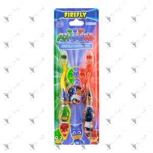 Firefly Toothbrush W/Cap PJMasks Travel Kit 2s