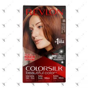Revlon ColorSilk 5RB Light Reddish Brown 55