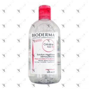 Bioderma Make-Up Removing Solution Crealine TS 500ml Pink