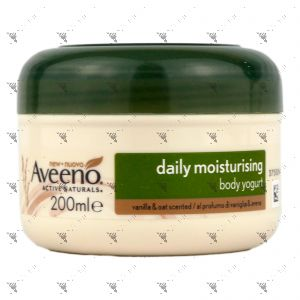 Aveeno Daily Moisturising Body Yogurt Cream 200ml Vanilla & Oat Scented