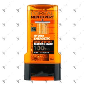 L'Oreal Men Expert Hydra Energetic Shower 300ml For Body Face Hair