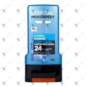 L'Oreal Men Expert Hydra Power Shower 300ml For Body Face hair
