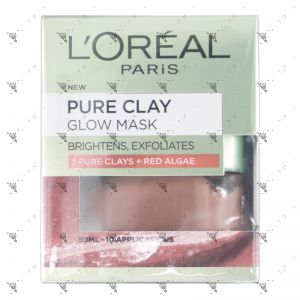 L'Oreal Pure Clay Mask 50ml Glow