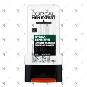 L'Oreal Men Expert Hydra Sensitive Shower 300ml For Body Face Hair
