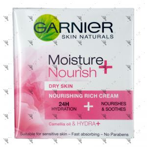 Garnier Moisture + Nourish Rich Cream 50ml Dry Skin