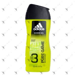 Adidas Body Hair Face 3in1 Pure Game 250ml