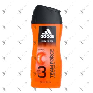 Adidas Hair & Body Shower Gel 250ml Team Force