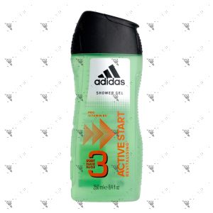 Adidas Body Hair Face 3in1 Active Start 250ml