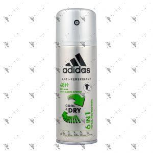Adidas Deodorant Spray 150ml 6in1 Cool & Dry
