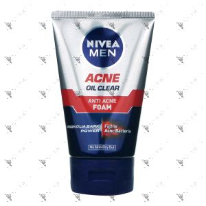 Nivea Men Oil Control Facial Foam 100g Anti-Acne
