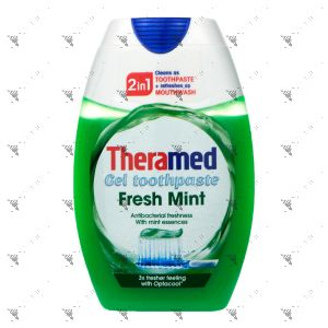 Theramed 2in1 Toothpaste + Mouthwash 75ml Fresh Mint Green