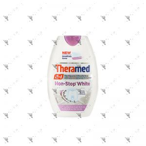 Theramed 2in1 Toothpaste + Mouth Wash 75ML Non-Stop White