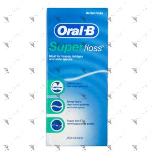 Oral-B Super Floss Pre-Cut Strands 50s