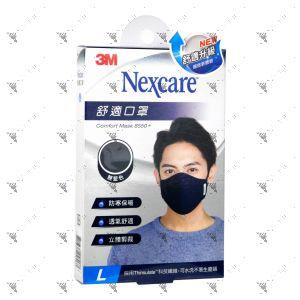 Nexcare 3m Comfort Mask Men L-Size Blue 1s 8550+