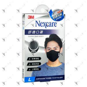 Nexcare 3m Comfort Mask Men L-Size Black 1s 8550+