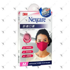 Nexcare 3m Comfort Mask Women M-Size Pink 1s 8550+