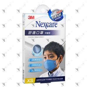 Nexcare 3m Comfort Mask Kids XS-Size Blue 1s 8550+