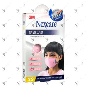 Nexcare 3m Comfort Mask Kids XS-Size Pink 1s 8550+