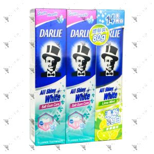 Darlie All Shiny White Toothpaste - Salt Gum Care 140gx2+90g