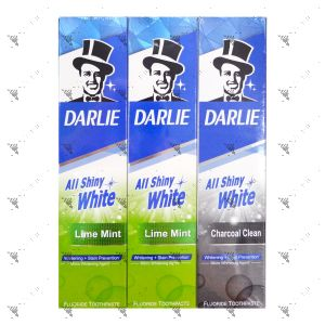Darlie All Shiny White Toothpaste - Lime Mint (140gx2+80g)