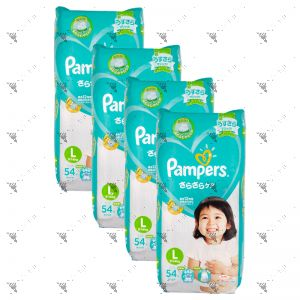 Pampers (JP) Baby-Dry Diapers Large 54s (1Carton=4pack)