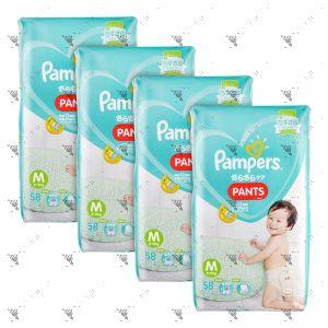 Pampers Baby-Dry Pants Medium 58s x4Packs