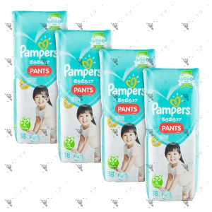 Pampers Baby-Dry Pants (JP) X-Large 38s x4Packs