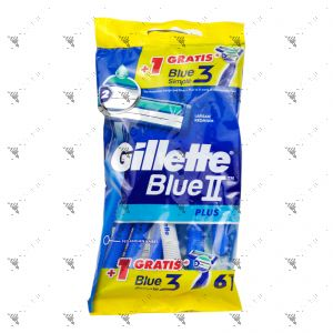 Gillette Blue II Plus Razors Ultragrip 5s + 1s
