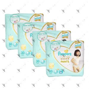Pampers Premium Care Silky Pants X-Large 30s (1Carton=4Pack)