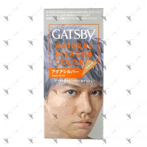 Gatsby Hair Colour Natural Bleach Aqua Silver