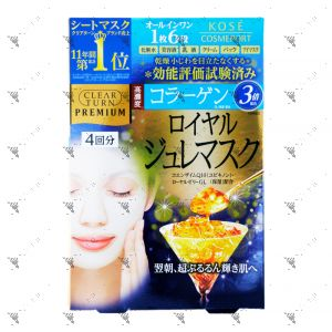 Kose Clear Turn Premium Royal Jelly Collagen Mask 4S